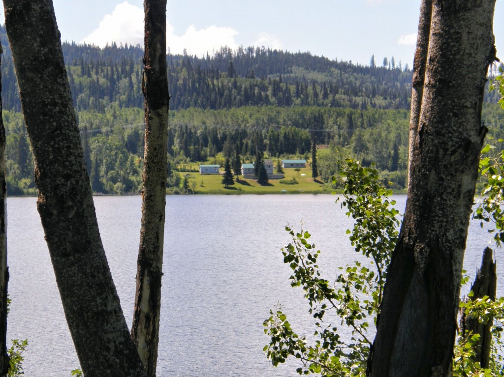 View across the lake by the rest area where we stopped for lunch