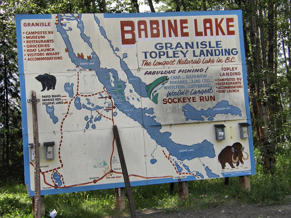 Map showing  access to the biggest lakes