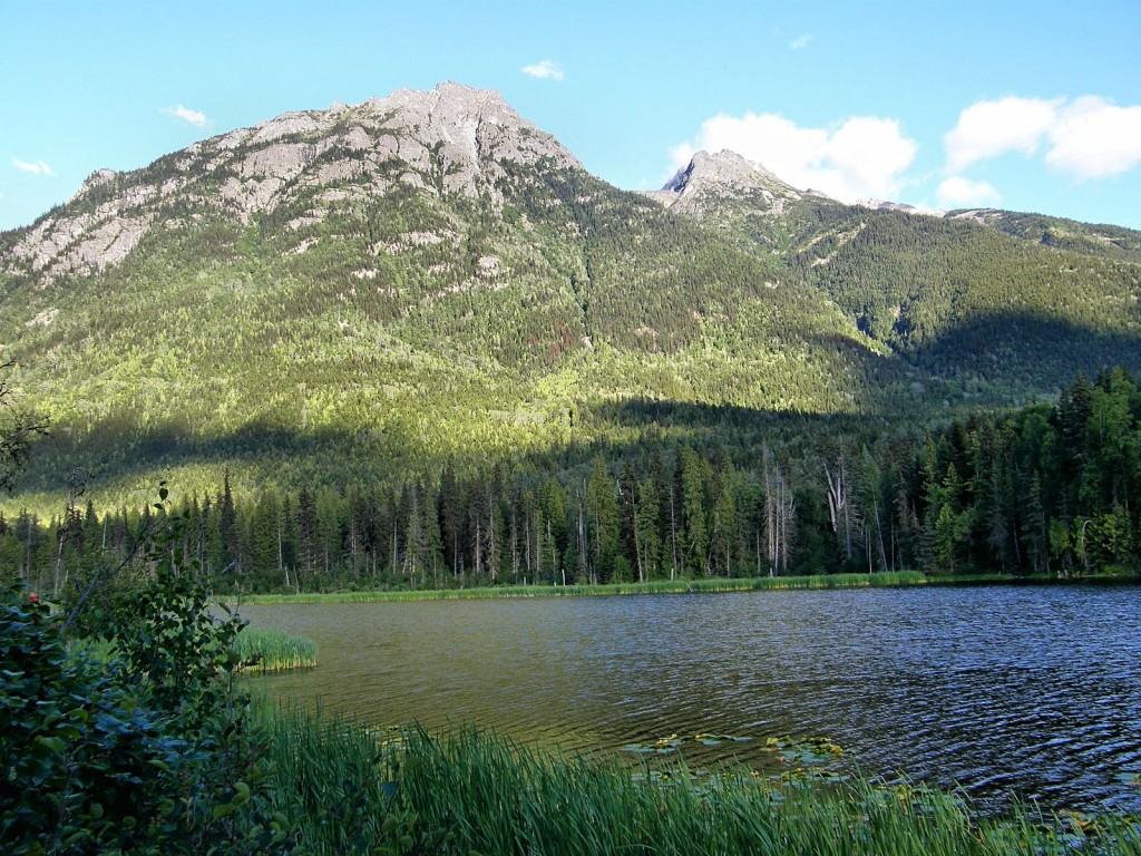 Evening view of Seeley Lake where we camped.