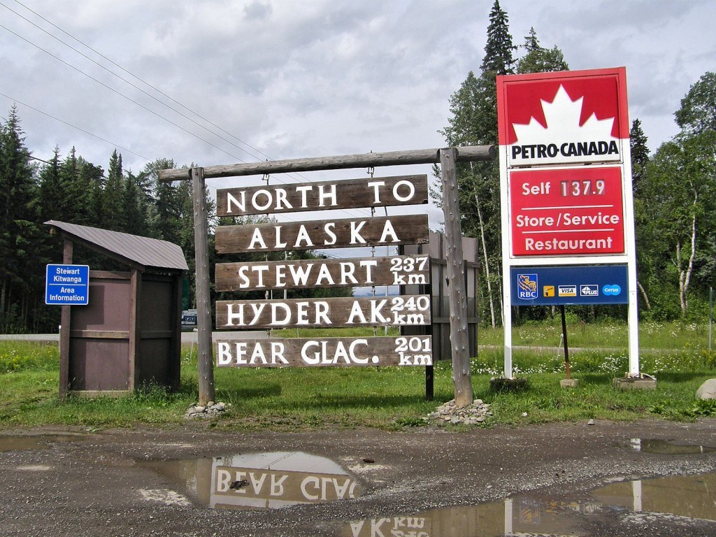The start of the Cassiar Highway