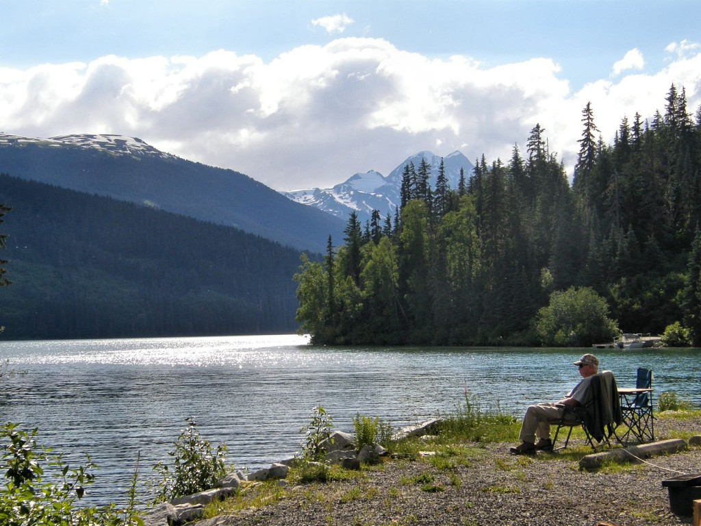 From the campground at Meziadin Lake