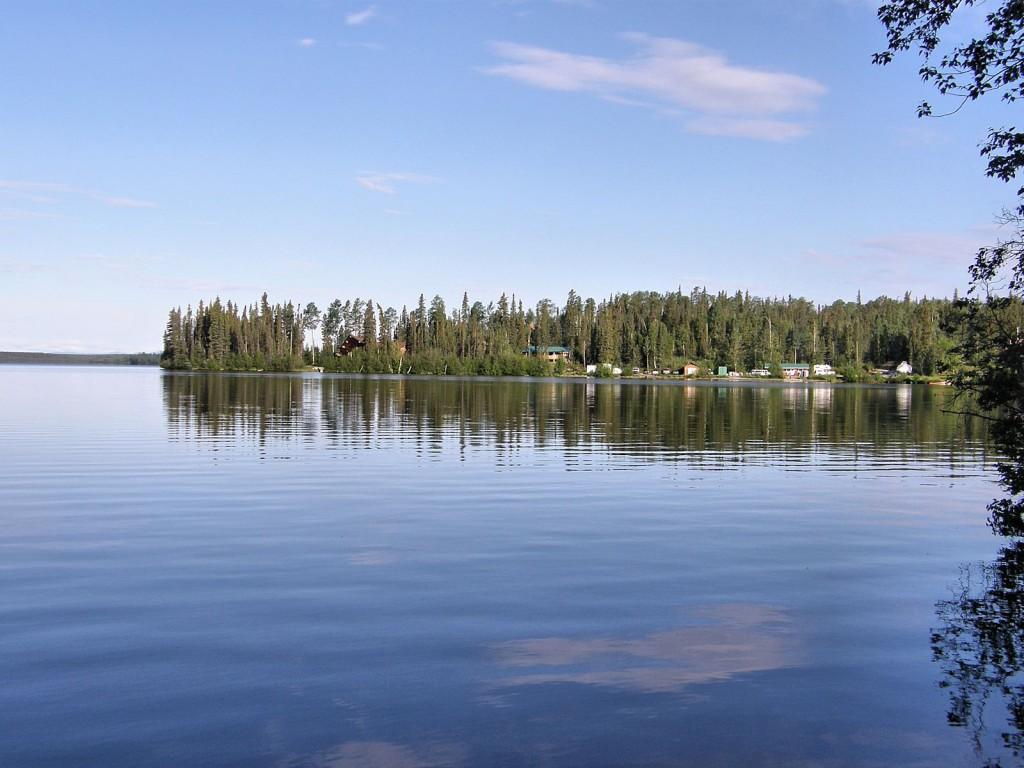 Watson Lake in the morning.