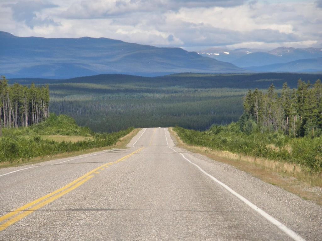 AlCan Highway west of Watson Lake