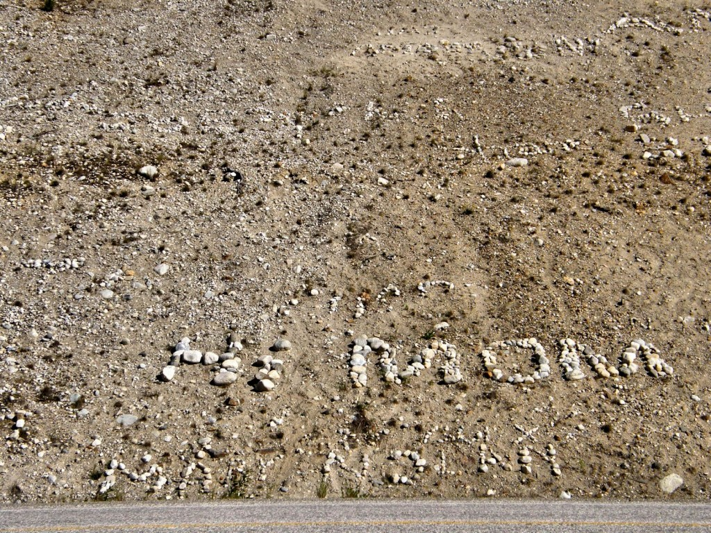 Since 1990 leaving messages along the AlCan west of Watson lake has become a favorite pastime.
