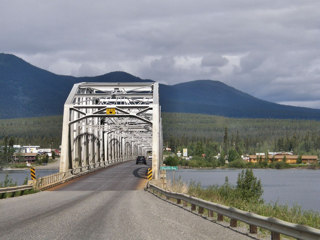 The bridge across the upper end of Teslin Lake. The longest on the Alaska Highway.