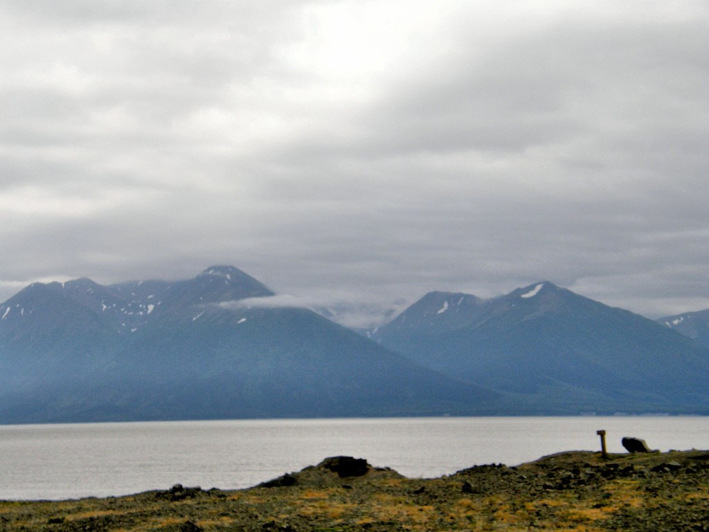 View across Cook Inlet from viewpoint on the Seward Highway