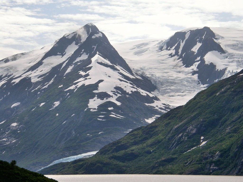 Portage Glacier from Portage Lake
