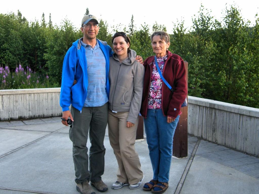 Rob, Kimber and Nancy at the South Denali Viewpoint