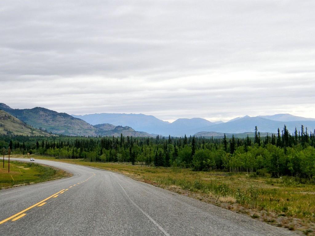 Alaska Highway west of Whitehorse