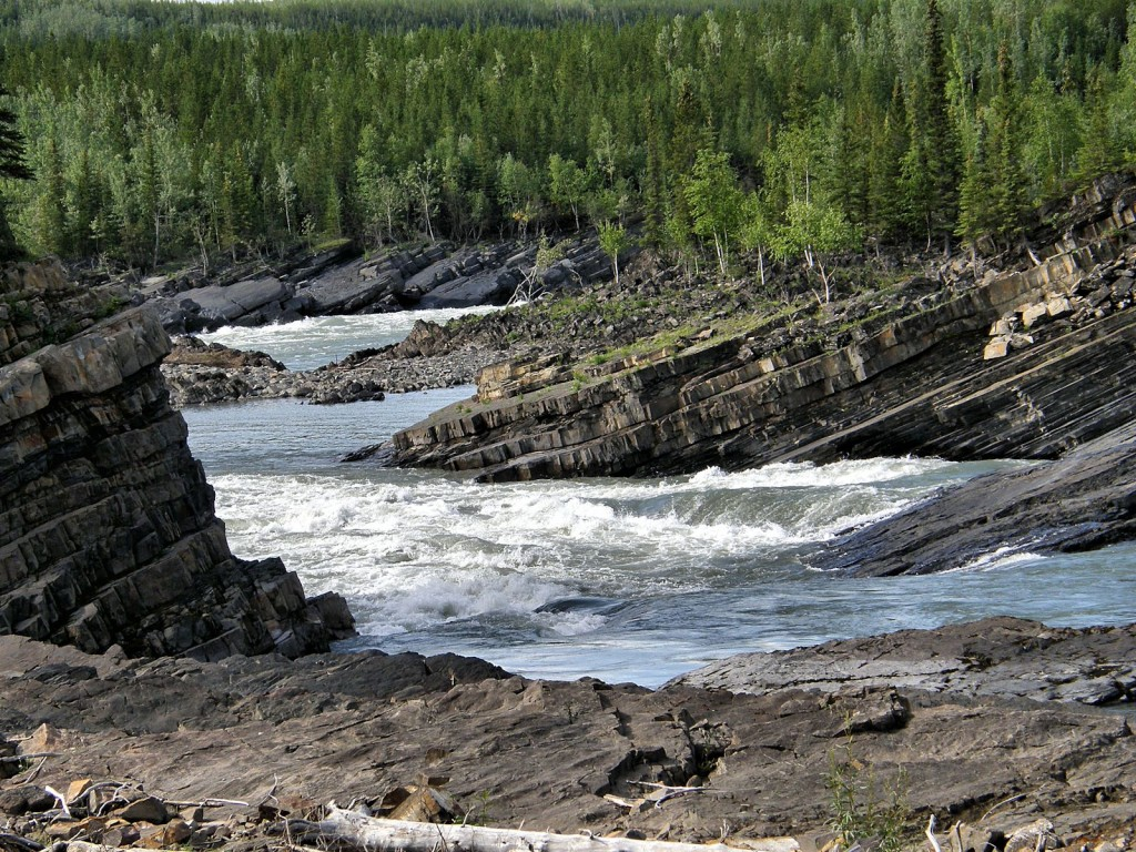 Rapids on Liard River