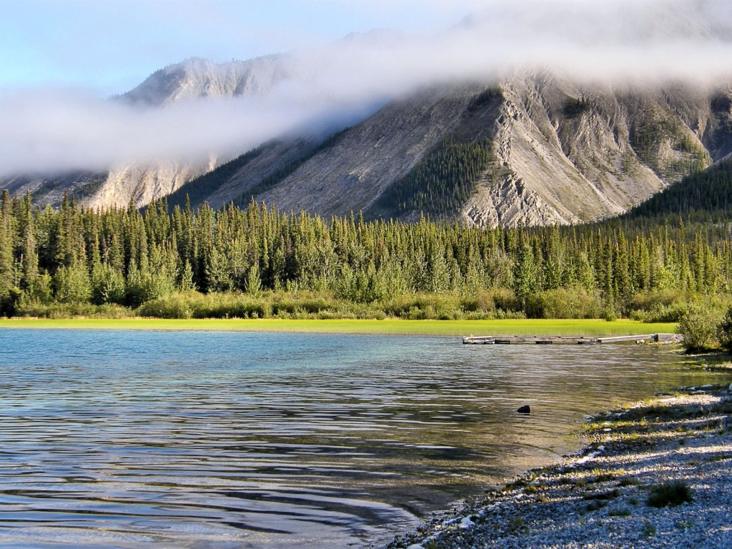 Muncho Lake in the morning