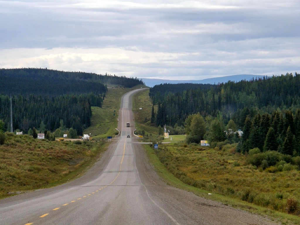 Alaska Highway between Prpohet River and Fort St. John