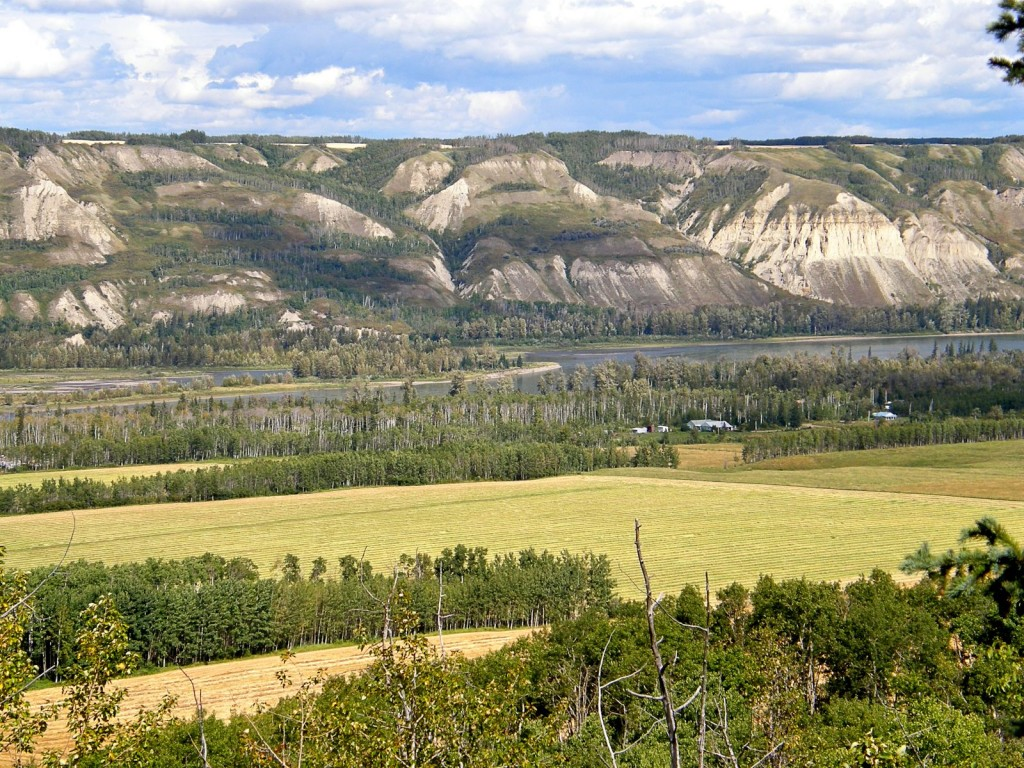 Peace River at Taylor, between Fort St. John and Dawson Creek