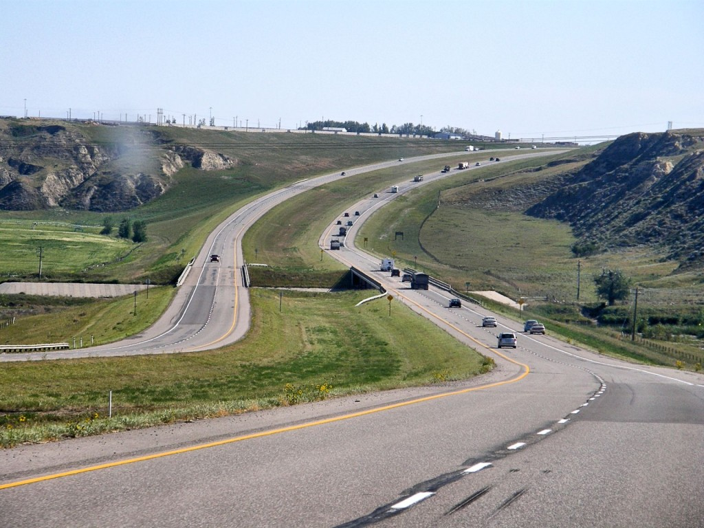Highway near Lethbridge
